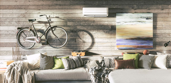 home with ductless split system