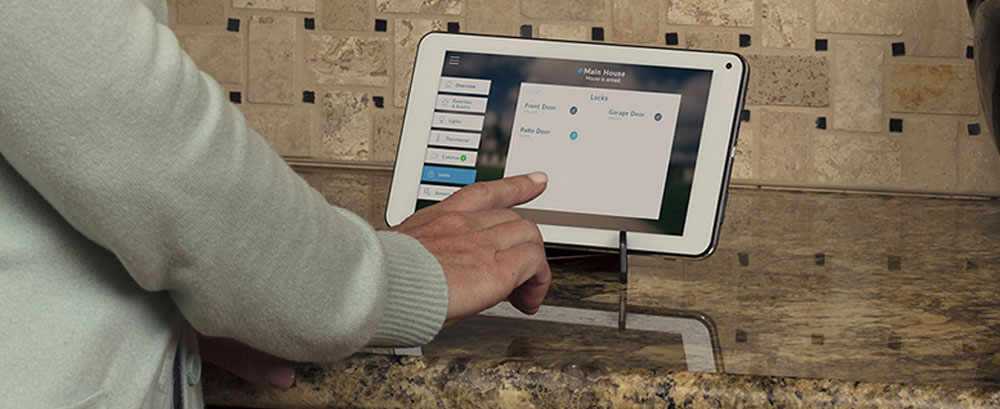 cor home automation on tablet